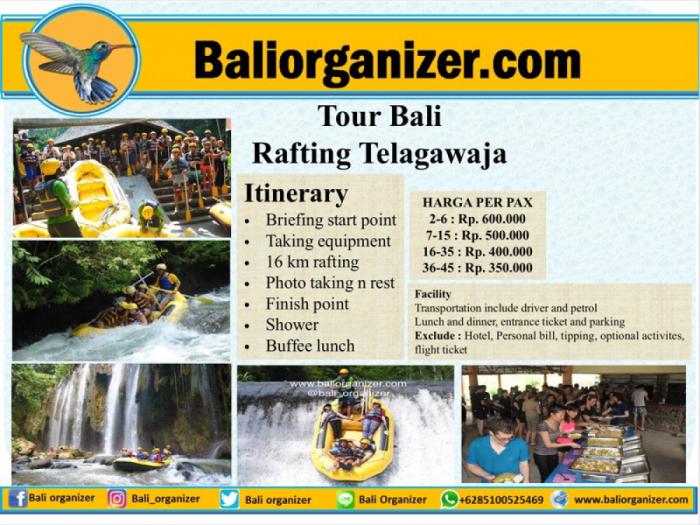 Tour Bali Rafting Telagawaja